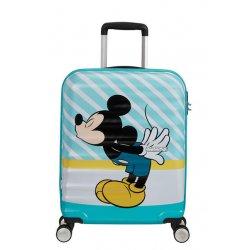 Βαλίτσα Καμπίνας Σκληρή American Tourister Disney Wavebreaker 55cm 85667-8624 Mickey Blue Kiss