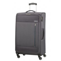 Βαλίτσα Μαλακή American Tourister Heat Wave Spinner 80cm 130669-1175 Charcoal Grey