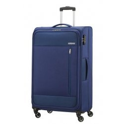 Βαλίτσα Μαλακή American Tourister Heat Wave Spinner 80cm 130669-6636 Combat Navy