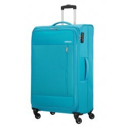 Βαλίτσα Μαλακή American Tourister Heat Wave Spinner 80cm 130669-7953 Sporty Blue